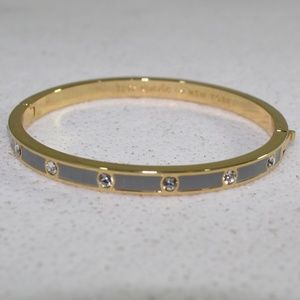 Kate Spade Gold and Gray Crystal Bangle Bracelet